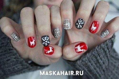 Božić noktiju manikura