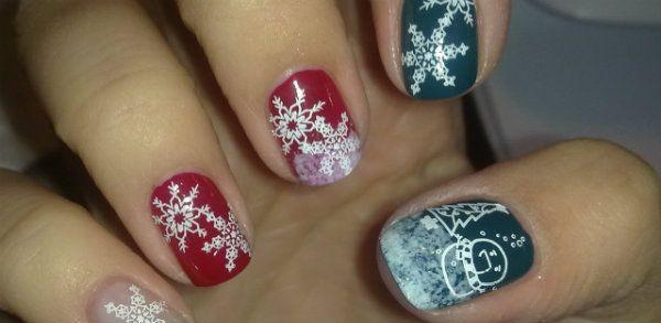 napraviti nova godina svečane manikura kratke nokte