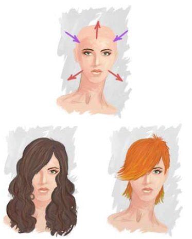Trokutasto lice, frizure