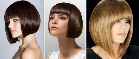 Opcija na srednje kose sa šiškama