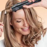 Napravite kovrče pomoću uvijač za kosu