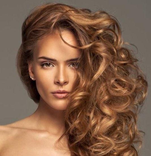 Karamel boju kose