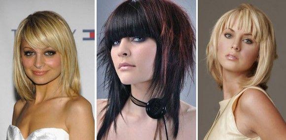 Ženske frizure na srednje dužine kose sa šiškama