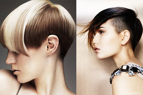 Asimetričnih frizure za žene